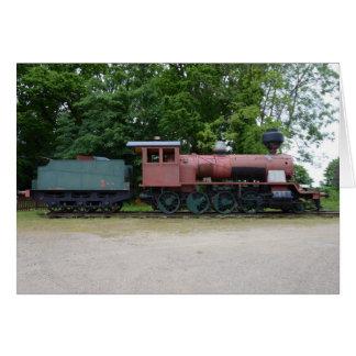 Alte Dampf-Lokomotive Grußkarte