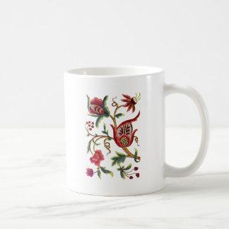 Alte englische Jacobean Stickerei Kaffeetasse