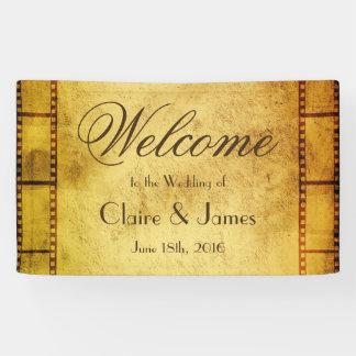 Alte Film-Willkommens-Hochzeit Banner