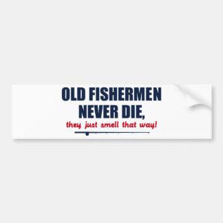 Alte Fischer die nie, sie riechen gerade so Autoaufkleber