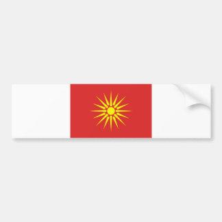 alte Flagge Macedonia-Landes Autoaufkleber