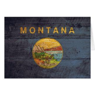 Alte hölzerne Montana-Flagge Karte