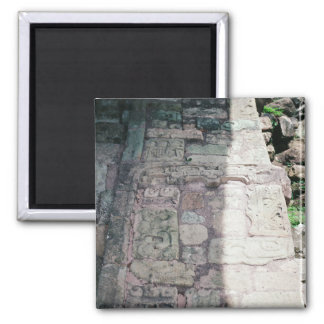 Alte Mayaruine-Stadt von Copan Honduras Foto Quadratischer Magnet