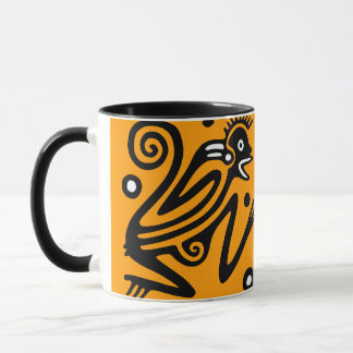 Alte mexikanische Motiv-Keramik-Tasse Tasse