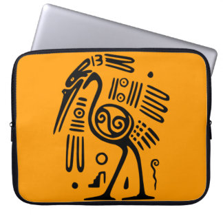 Alte mexikanische Vogel-Motiv-Laptop-Hülse Computer Schutzhülle