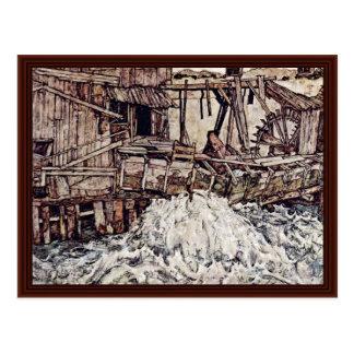 Alte Mühle durch Schiele Egon Postkarte