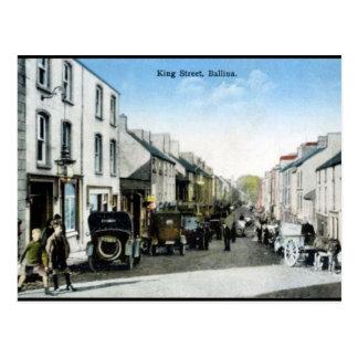 Alte Postkarte - Ballina, Co Mayo, Irland