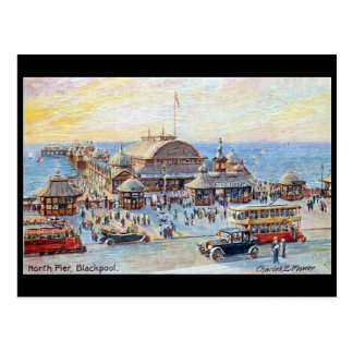 Alte Postkarte - Blackpool, Nordpier
