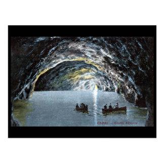 Alte Postkarte - blaue Grotte, Capri, Italien