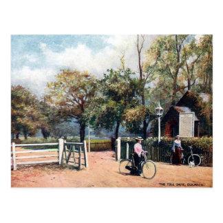 Alte Postkarte - Gebührenstelle, Dulwich, London