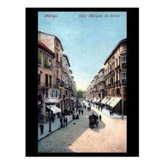 Alte Postkarte - Màlaga, Spanien