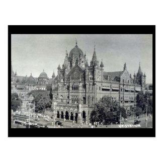 Alte Postkarte - Mumbai, Victoria Terminus