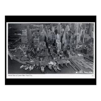 Alte Postkarte - New York City von der Luft
