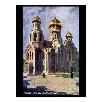 Alte Postkarte - Vilnius, Litauen