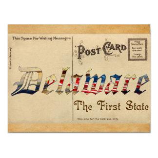 Alte Postkarte Vintager Blick-Delawares