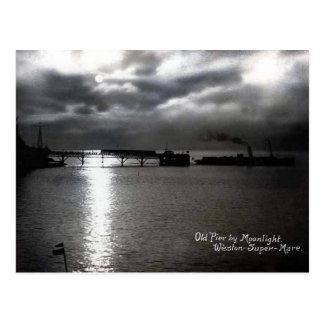 Alte Postkarte - Weston-Super-Stute, alter Pier