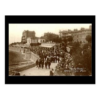 Alte Postkarte, Weston-Super-Stute, Rozel Schutz Postkarte
