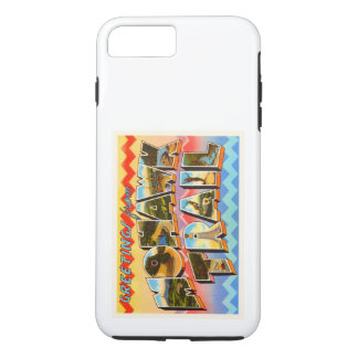 Alte Reise-Andenken Mohikaner-Hintermassachusetts iPhone 8 Plus/7 Plus Hülle