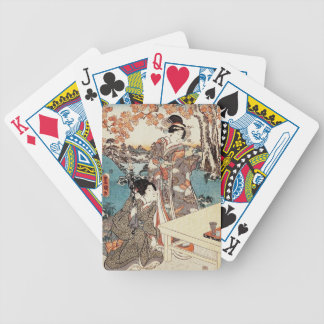Alte Rolle japanischen Vintagen ukiyo-e Geisha Bicycle Spielkarten