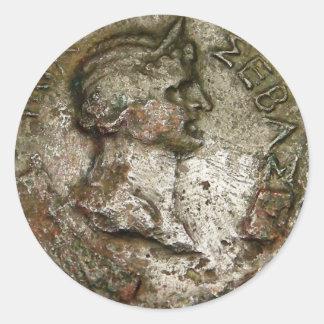 Alte römische Münze Runder Aufkleber
