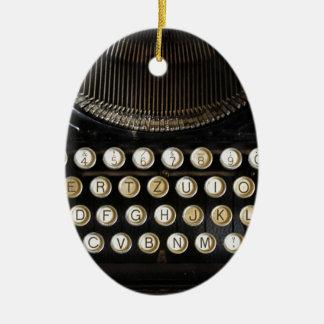 alte Schreibmaschine Ovales Keramik Ornament