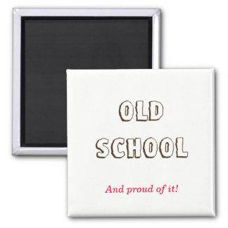 Alte Schule Quadratischer Magnet