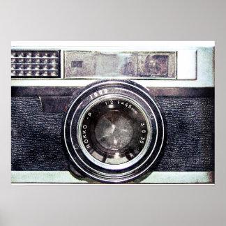 Alte schwarze Kamera Poster