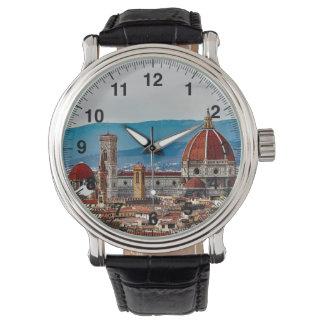 Alte Stadt Florenz, Italien-Skyline Armbanduhr