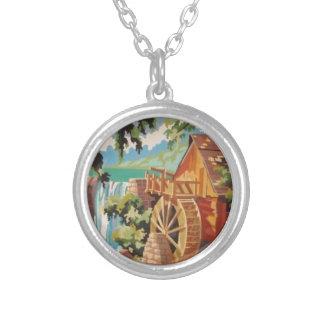 Alte Szenen-Halskette des Mühlrad-PBN Halskette Mit Rundem Anhänger