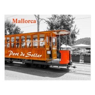 Alte Tram Mallorca von Port de Soller Postkarte