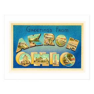 Alte Vintage Reise-Andenken Akrons Ohio OH- Postkarte