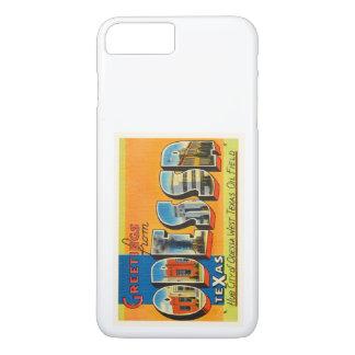 Alte Vintage Reise-Andenken Odessas Texas TX iPhone 8 Plus/7 Plus Hülle