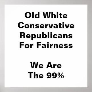 Alte weiße konservative Republikaner für Poster