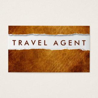 Alte zerrissene Papierreise-Agent-Geschäfts-Karte Visitenkarten