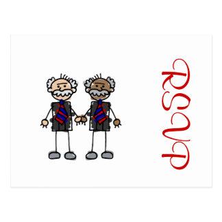 Alte zwischen verschiedenen Rassen Paare Postkarte