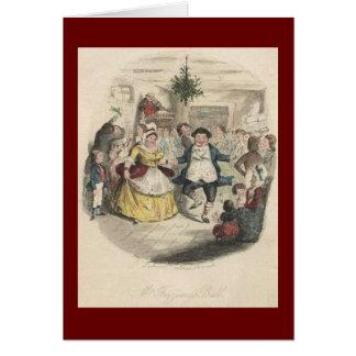 Alten Fezziwigs Weihnachtsball, ein Weihnachten Karte