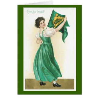 Alten Mode-St Patrick Tageskarten Karte