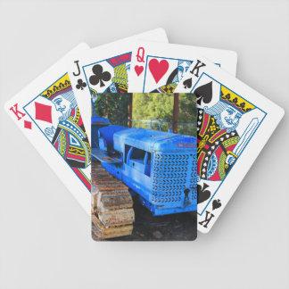 Alter blauer Traktor und Raupe Bicycle Spielkarten