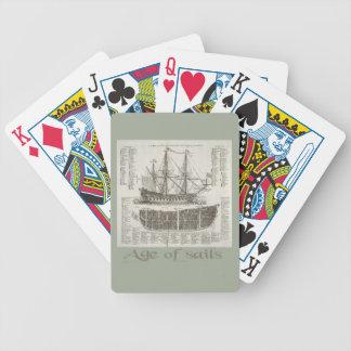 Alter der Segel Bicycle Spielkarten