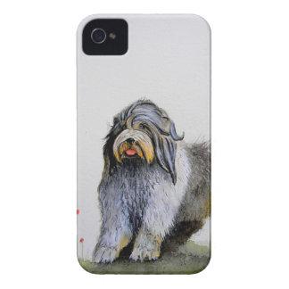 Alter englischer Schäferhund-Welpe und Mohnblumen iPhone 4 Cover