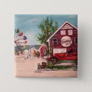 Alter Firehouse, Genf-Malerei auf einem Knopf Quadratischer Button 5,1 Cm