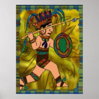 Alter Kriegers-amerikanischer Ureinwohner Poster