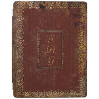 Alter lederner viktorianischer Art-Bucheinband iPad Hülle