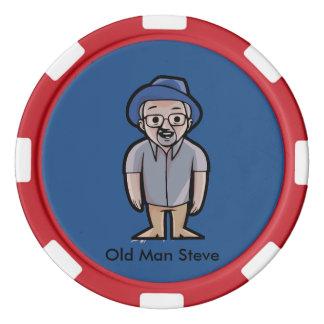 Alter Mannsteve-Pokerchips Pokerchips