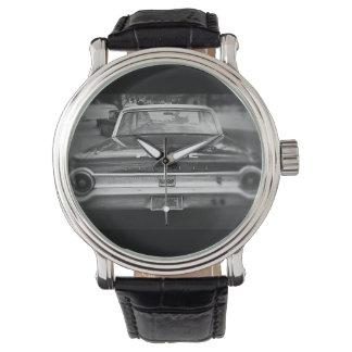 Alter Polizeiwagen - schwarze Uhr
