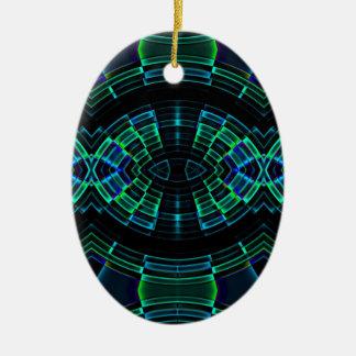 alter Power Ovales Keramik Ornament