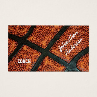 Alter Retro Basketball signierte Trainer Visitenkarten