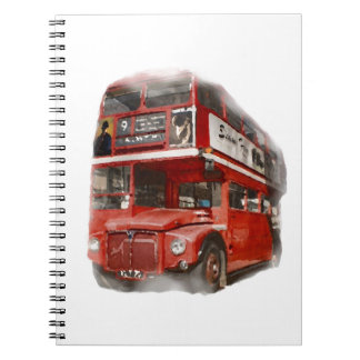 Alter roter London-Bus Spiral Notizblock