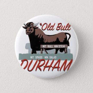 Alter Stier Durham Runder Button 5,7 Cm