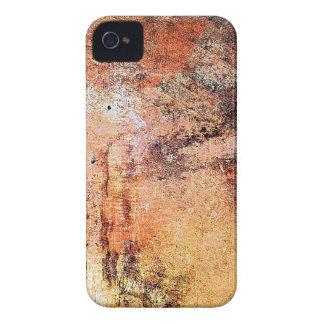 alter Vintager rostiger brauner Kunstbrand-Rauch iPhone 4 Hülle